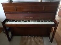 Piano upright - Crane and sons. Free to a good home.