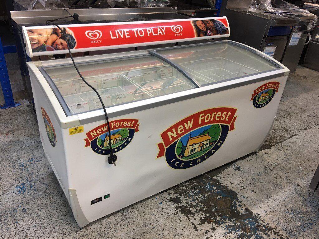 Walls Ice Cream Freezer Display Freezer Glass Door Freezer