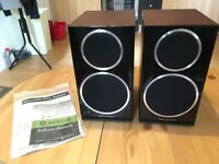 Wharfedale Diamond 220 Rosewood Quilted Bookshelf Speakers (Pair)