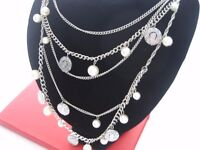 Necklace: Pearl & Coin Chain style of chanel