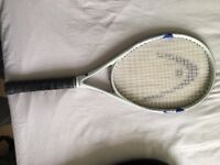 Head tennis racket with cover