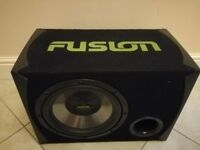 Fusion 12' Subwoofer with American Pro Amp