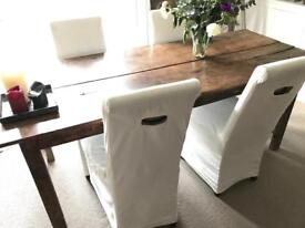 4 dining chairs with linen covers by Rivièra Maison (Netherlands)