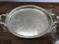 Vintage silver plated tea tray (New)