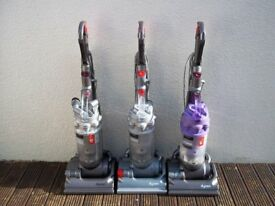DYSON DC14 UPRIGHT BAGLESS VACUUM, FULLY CLEANED, WITH TOOLS AND NEW MOTOR