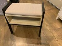 Small shoe bench with storage for sale