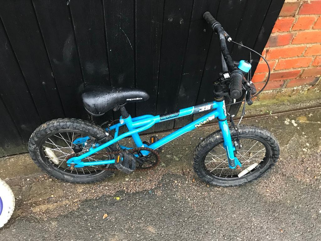 "Apollo Boys Bike. 14"" Wheels, Serviced. Free Lights & Delivery."
