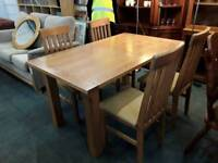 Dining Table With Four Chairs - Delivery Available