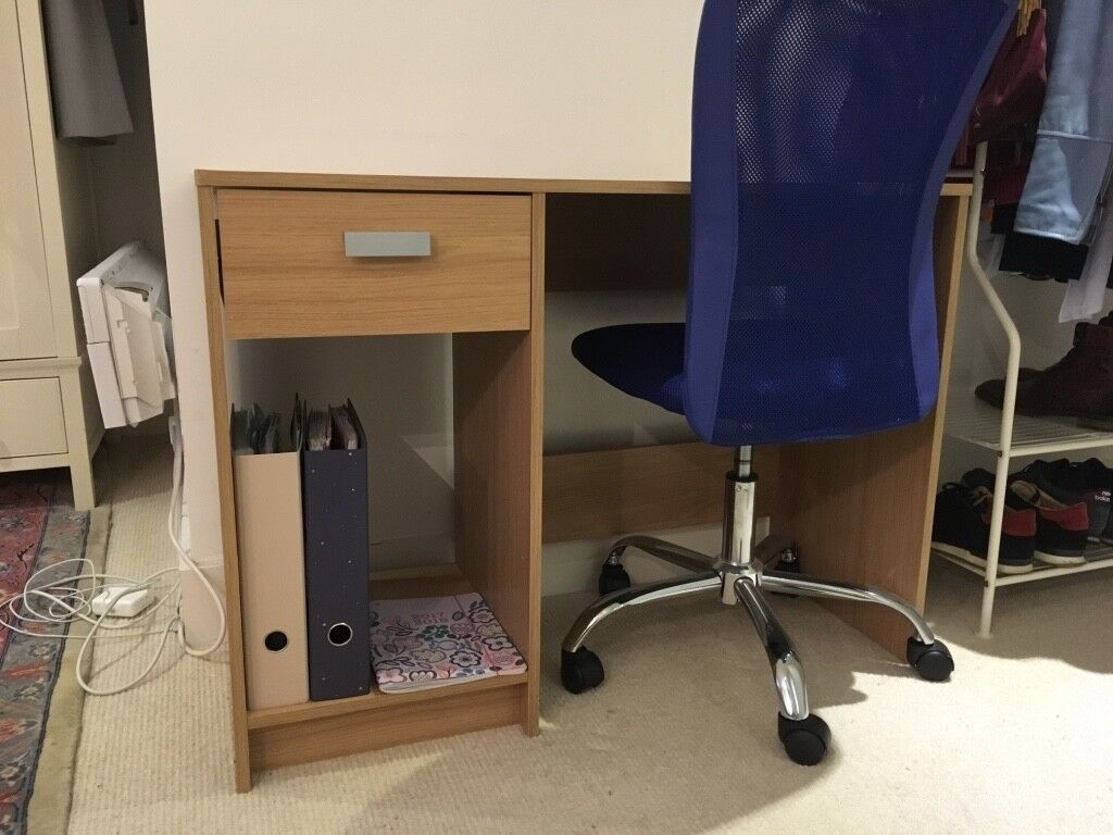 Astonishing Argos Desk Oak Effect Office Chair Midnight Blue Mesh Great Condition In Wandsworth London Gumtree Gmtry Best Dining Table And Chair Ideas Images Gmtryco