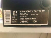 Nike black Air Force 1 - Womens size 8 (worn once)