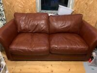 Leather Sofa Bed - Free to collector