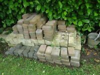 Quantity of stone blocks and other paving blocks for garden project (FREE)