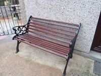 Garden bench with cast iron ends excellent condition collection Abergele LL22