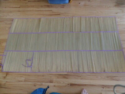 Straw Mat Rolls (VTG  Hawaii Straw Grass Beach Pool Mat Yoga Picnic Outdoor)