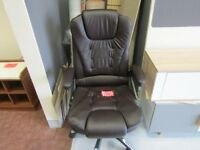 brown leather office gaming chair