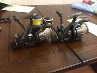 2x shimano 10000xte bait runner carp/pike fishing reels