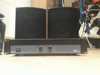 KAM 10 inch subwoofers + W Audio EXP300 amplifier
