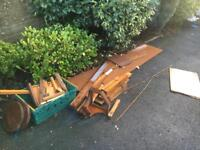 FREE assorted wood - outside and wet!