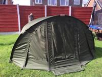Trakker Tempest bivvy with wrap carp fishing