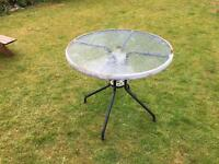Round garden table 80cm wide