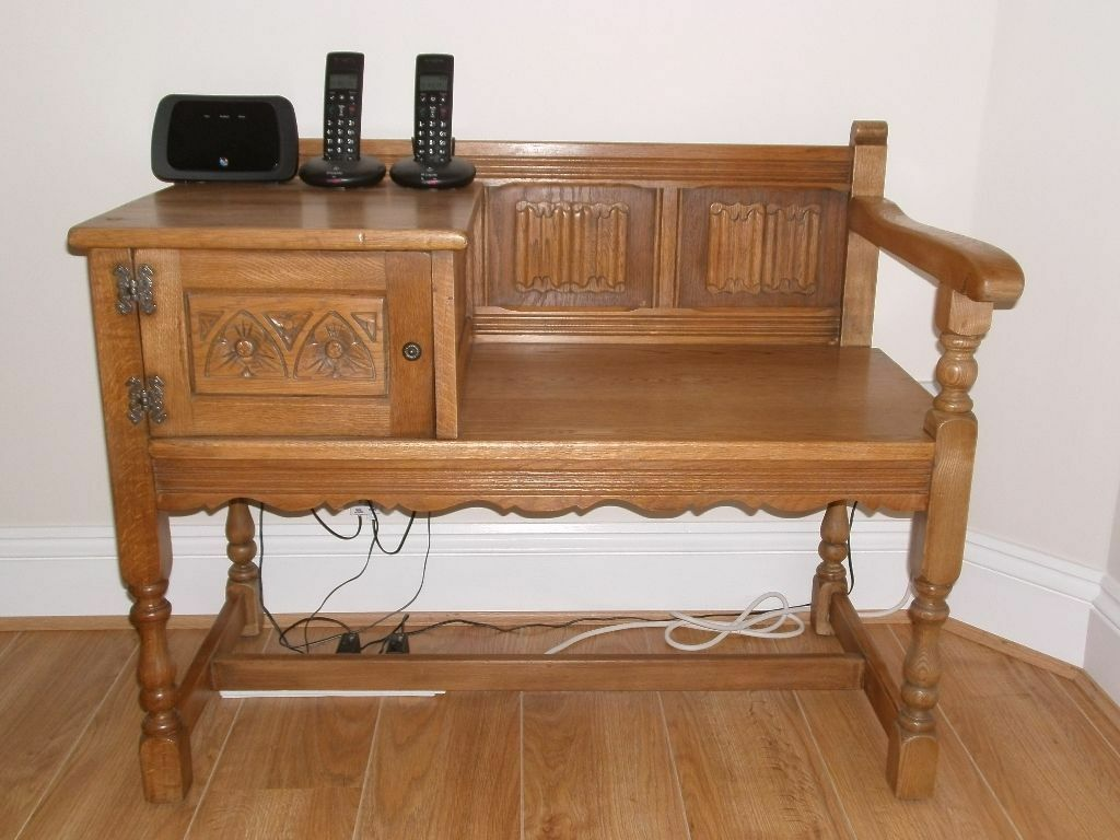 Vintage telephone table seat in chacewater cornwall for Skinny dressing table