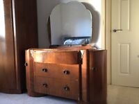 Vintage Solid Wood Chest of Drawers & Wardrobe