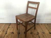 Vintage Panelled Seat Country Kitchen Dining Chair Single Utility