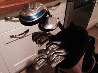 Golf clubs-Ping Driver- Fairway Wood-Driving Iron-Ping Zing2 Irons-Putter-Bag-Glove-Balls & tees