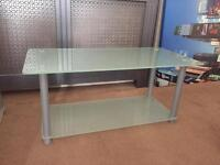 Glass shelving unit and coffee table £20