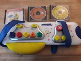 Baby Keyboard & 3 x CD's by Berchet - used by good condition