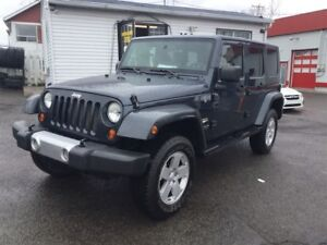 2008 Jeep Wrangler UNLIMITED SAHARA AUT 2 TOIT GARANTIE 12999$