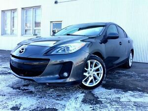 2012 Mazda MAZDA3 GT, HEATED & LEATHER SEATS , BLUETOOTH.