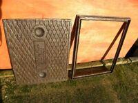 Cast Iron manhole cover.