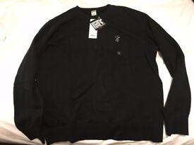 Uniqlo Kaws X Peanuts Large Black Sweatshirt Limited Edition (nike, yeezy, supreme, jordan, bape)
