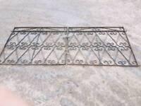 Wrought iron double garden gates (#2&3)