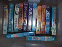 DISNEY VHS TAPES X 13