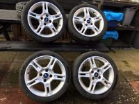 4 Ford Fiesta Zetec S alloy wheels with tyres