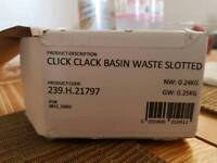 Click clack Basin Waste Slotted