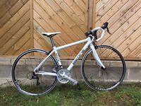Beone Jade Sport Ladies Road Race Bike, 45cm, White/Black – LIKE NEW + Upgrades