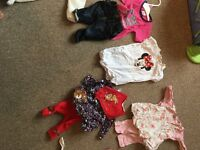 Newborn baby girl clothes Bundle w/ Nappies