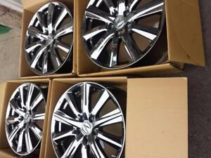 BRAND NEW TAKE OFF 2016 ACURA MDX 19 INCH FACTORY OEM CHROME WHEELS WITH TPM SENSORS.