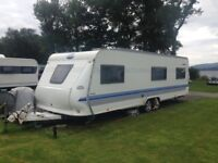 SOLD PENDING VIEWING. 2004 hobby 720 umf 5 berth caravan.