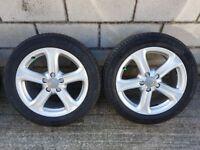 2014/2015 Audi A4 Technik Genuine 17Inch Alloy wheels 225/50 R17 Excellent Condition