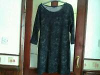 Black & grey size 12 dress