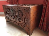 Antique chinese wooden trunk