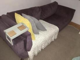 Large modern lavender sofa £40