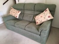 Sofa free to collector. 3 seater green chenille sofa. Good condition. Buyer must collect. Free.