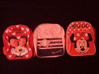 3 x Girls Minnie Mouse rucksacks
