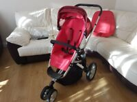 Quinny Buzz pushchair with original bag, rain cover and wheels pump