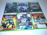Selection of Xbox 360 games.